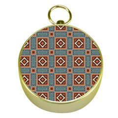 Squares Rectangles And Other Shapes Pattern Gold Compass