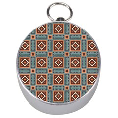 Squares rectangles and other shapes pattern Silver Compass