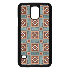 Squares Rectangles And Other Shapes Pattern Samsung Galaxy S5 Case (black)
