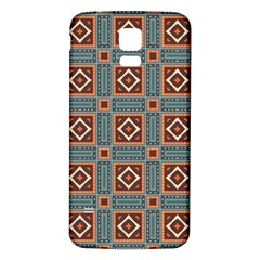 Squares Rectangles And Other Shapes Pattern Samsung Galaxy S5 Back Case (white)