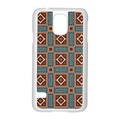 Squares rectangles and other shapes pattern Samsung Galaxy S5 Case (White)