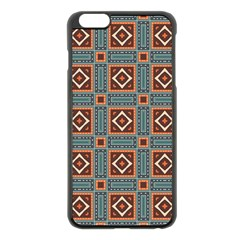 Squares rectangles and other shapes pattern Apple iPhone 6 Plus Black Enamel Case
