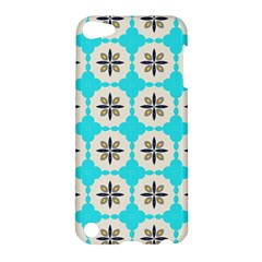 Floral Pattern On A Blue Background Apple Ipod Touch 5 Hardshell Case