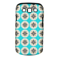 Floral Pattern On A Blue Background Samsung Galaxy S Iii Classic Hardshell Case (pc+silicone)