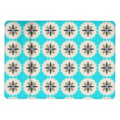 Floral Pattern On A Blue Background Samsung Galaxy Tab 10 1  P7500 Flip Case