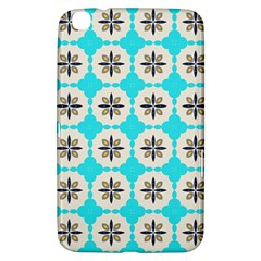 Floral Pattern On A Blue Background Samsung Galaxy Tab 3 (8 ) T3100 Hardshell Case