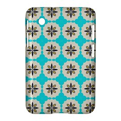 Floral Pattern On A Blue Background Samsung Galaxy Tab 2 (7 ) P3100 Hardshell Case