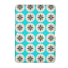 Floral pattern on a blue background Samsung Galaxy Tab 2 (10.1 ) P5100 Hardshell Case