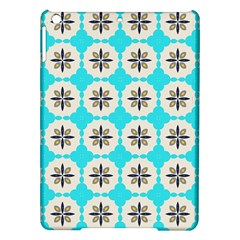 Floral pattern on a blue background Apple iPad Air Hardshell Case