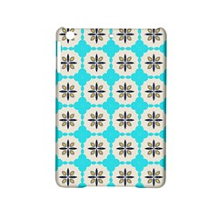 Floral pattern on a blue background Apple iPad Mini 2 Hardshell Case