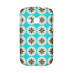 Floral pattern on a blue background Samsung Galaxy S6310 Hardshell Case