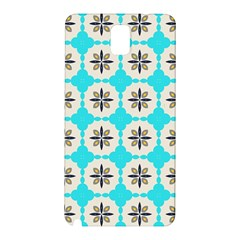 Floral Pattern On A Blue Background Samsung Galaxy Note 3 N9005 Hardshell Back Case