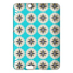 Floral pattern on a blue background Kindle Fire HDX Hardshell Case