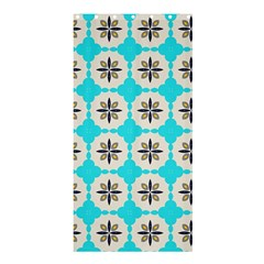Floral pattern on a blue background Shower Curtain 36  x 72  (Stall)
