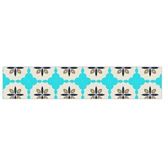 Floral pattern on a blue background Flano Scarf (Small)