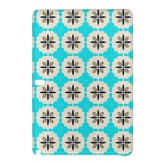 Floral pattern on a blue background Samsung Galaxy Tab Pro 10.1 Hardshell Case