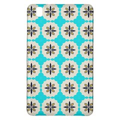 Floral pattern on a blue background Samsung Galaxy Tab Pro 8.4 Hardshell Case