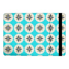 Floral Pattern On A Blue Background Samsung Galaxy Tab Pro 10 1  Flip Case