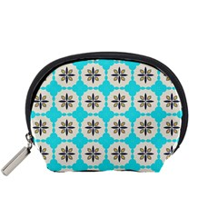Floral pattern on a blue background Accessory Pouch (Small)