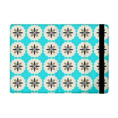 Floral pattern on a blue background Apple iPad Mini 2 Flip Case