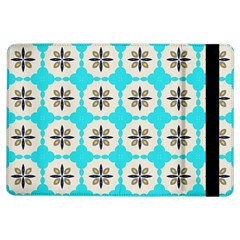 Floral pattern on a blue background Apple iPad Air Flip Case