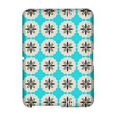 Floral pattern on a blue background Kindle Fire HD Hardshell Case