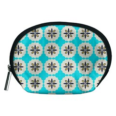 Floral pattern on a blue background Accessory Pouch (Medium)