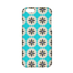 Floral pattern on a blue background Apple iPhone 6 Hardshell Case