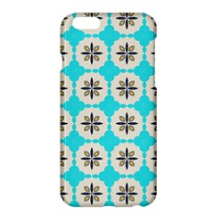 Floral pattern on a blue background Apple iPhone 6 Plus Hardshell Case