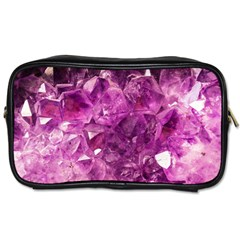 Amethyst Stone Of Healing Travel Toiletry Bag (two Sides)