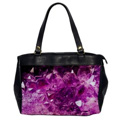 Amethyst Stone Of Healing Oversize Office Handbag (one Side)