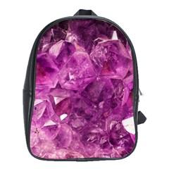 Amethyst Stone Of Healing School Bag (xl)