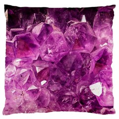 Amethyst Stone Of Healing Large Flano Cushion Case (two Sides)