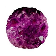 Amethyst Stone Of Healing 15  Premium Flano Round Cushion