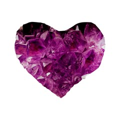 Amethyst Stone Of Healing 16  Premium Flano Heart Shape Cushion