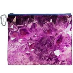 Amethyst Stone Of Healing Canvas Cosmetic Bag (XXXL)