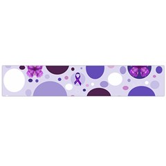 Purple Awareness Dots Flano Scarf (Large)