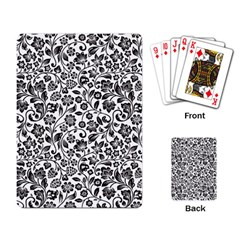 Elegant Glittery Floral Playing Cards Single Design