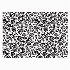 Elegant Glittery Floral Glasses Cloth (large, Two Sided)