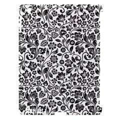 Elegant Glittery Floral Apple Ipad 3/4 Hardshell Case (compatible With Smart Cover)