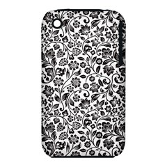 Elegant Glittery Floral Apple iPhone 3G/3GS Hardshell Case (PC+Silicone)