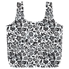 Elegant Glittery Floral Reusable Bag (XL)