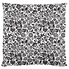 Elegant Glittery Floral Standard Flano Cushion Case (Two Sides)