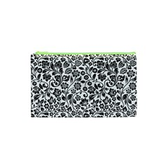 Elegant Glittery Floral Cosmetic Bag (XS)