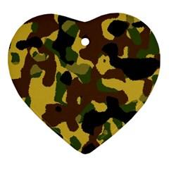Camo Pattern  Heart Ornament