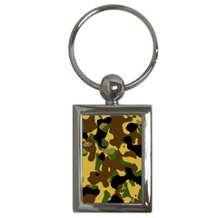 Camo Pattern  Key Chain (rectangle)