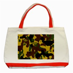 Camo Pattern  Classic Tote Bag (Red)