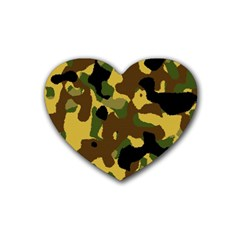 Camo Pattern  Drink Coasters 4 Pack (heart)