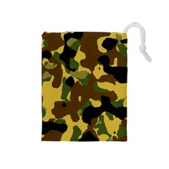 Camo Pattern  Drawstring Pouch (Medium)