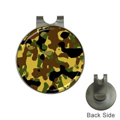 Camo Pattern  Hat Clip With Golf Ball Marker